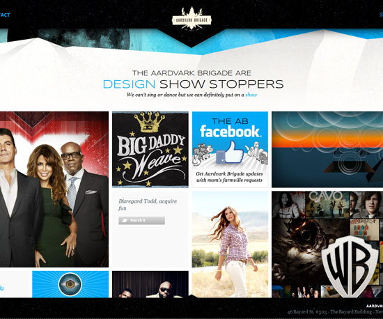 aardvarkbrigade.com Website Design Inspiration