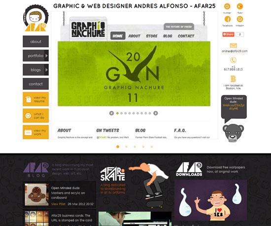 afar25.com Website Design Inspiration