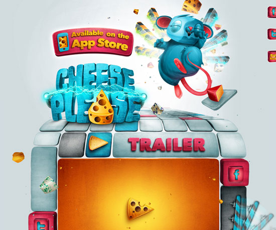 cheesepleasegame.com Website Design Inspiration