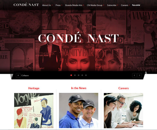 condenast.com Website Design Inspiration