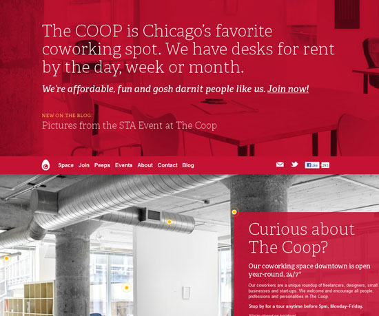 coworkchicago.com Website Design Inspiration