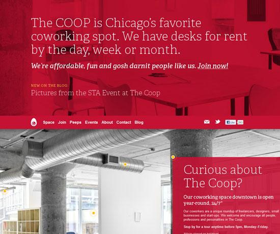 coworkchicago.com Website Design Inspiration
