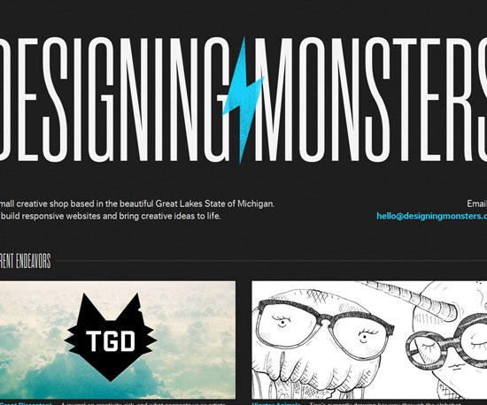 designingmonsters.com Website Design Inspiration