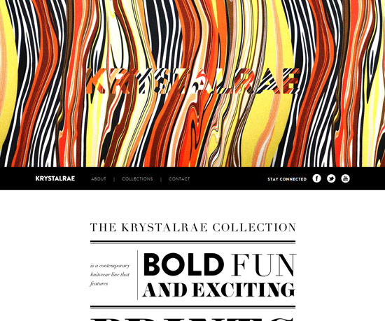 krystalrae.com Website Design Inspiration