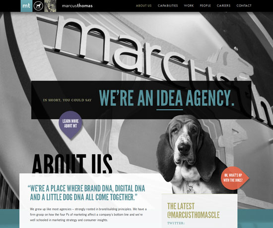 marcusthomasllc.com Website Design Inspiration
