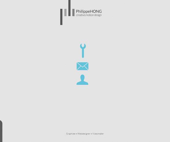 philippehong.com Website Design Inspiration