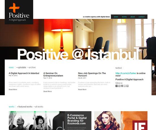 positive.com.tr Website Design Inspiration