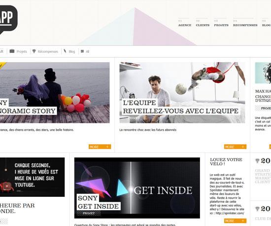 rappfrance.com Website Design Inspiration