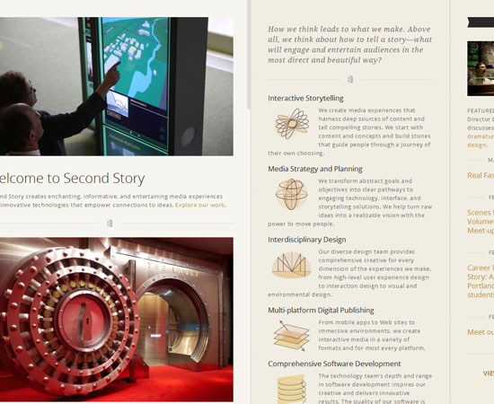 secondstory.com Website Design Inspiration