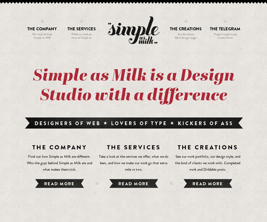simpleasmilk.co.uk Website Design Inspiration