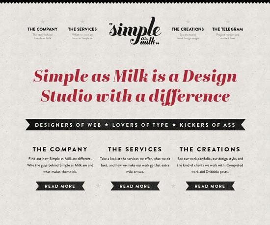 simpleasmilk.co.uk Website Design Inspiration
