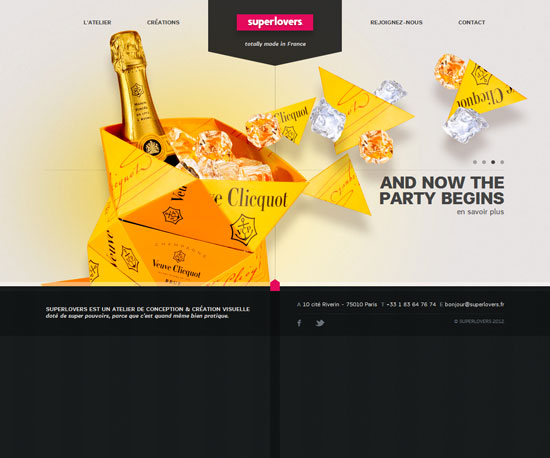 superlovers.fr Website Design Inspiration