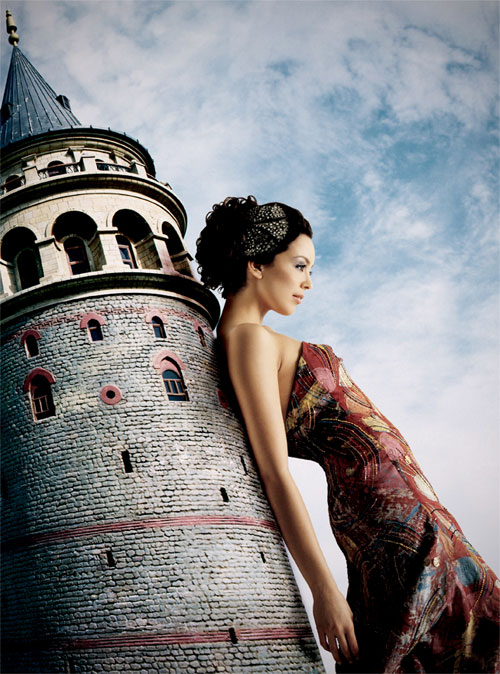 Galata Tower Fashion Photography