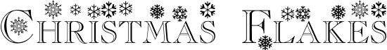 Christmas Flakes Free Winter Or Christmas Font