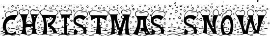 Christmas Snow Free Winter Or Christmas Font