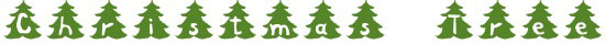 Christmas Tree Free Winter Or Christmas Font