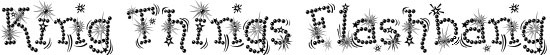 Kingthings Flashbang Free Winter Or Christmas Font