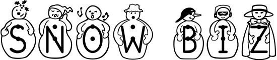 Snow Biz Free Winter Or Christmas Font