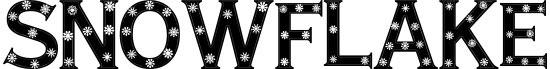 snowflake Free Winter Or Christmas Font