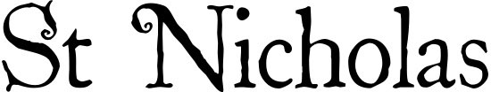 St Nicholas Free Winter Or Christmas Font