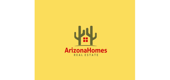 ArizonaHomes Logo With Clever Message