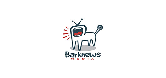 Bark News Media Logo With Clever Message