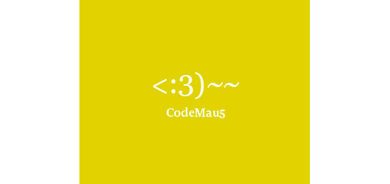 CodeMaus Logo With Clever Message