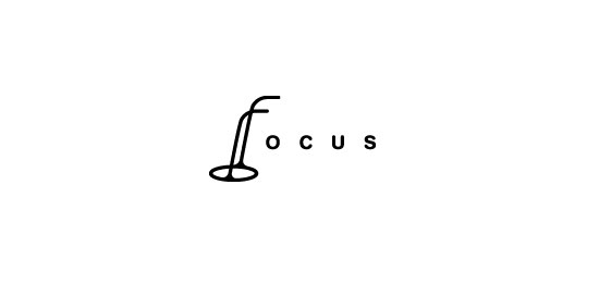 Focus Logo With Clever Message