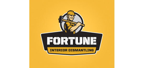 Fortune Interior Dismantling Logo With Clever Message