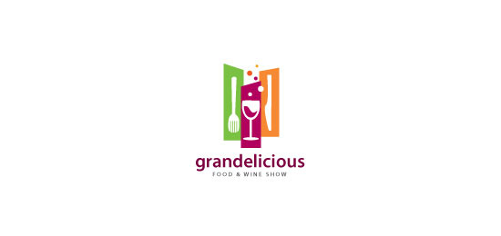 Grandelicious Logo With Clever Message