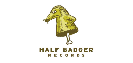 Half Badger Records Logo With Clever Message