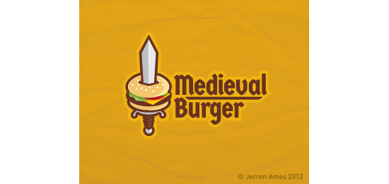 Medieval Burger Logo With Clever Message