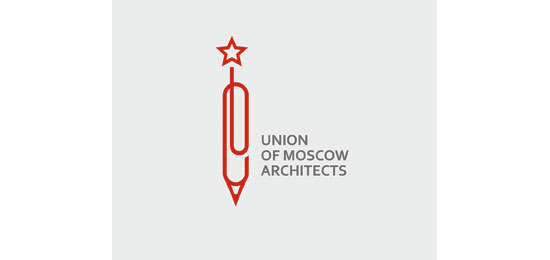 Union of Moscow Architects Logo With Clever Message