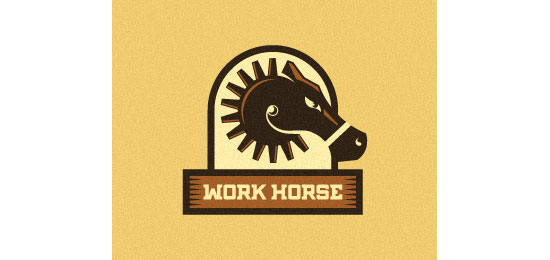 Work Horse Logo With Clever Message
