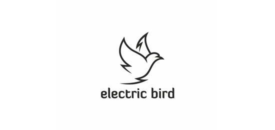 electric bird Logo With Clever Message