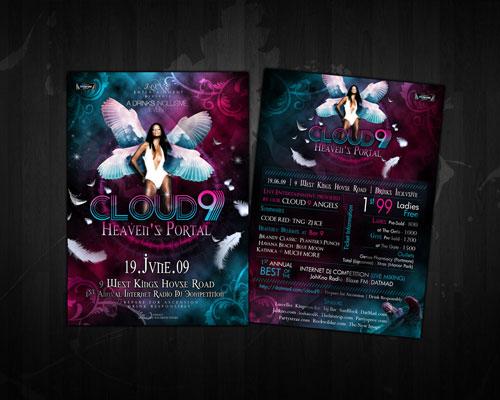 Cloud 9 Heaven's portal flyer