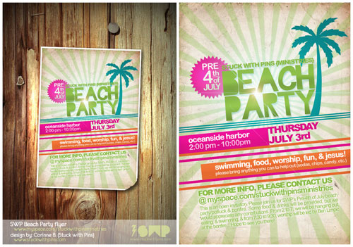 SWP Beach Party 08 flyer
