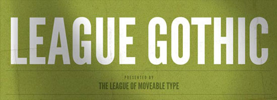 League Gothic Font-Face Free Download