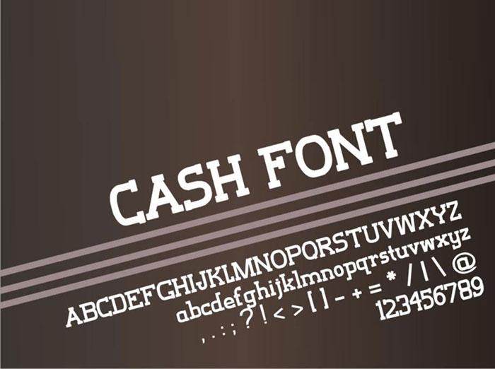 Download Cash font