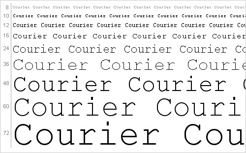 Download Courier font
