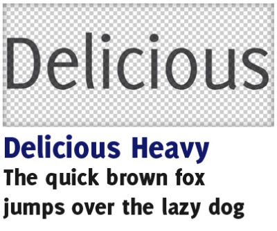 Download Delicious font