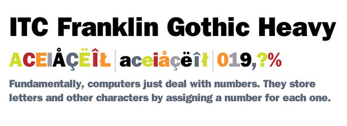 Download ITC Franklin Gothic Heavy font
