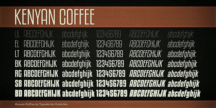 Download Kenyan Coffee font