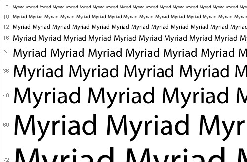 Download myriad font