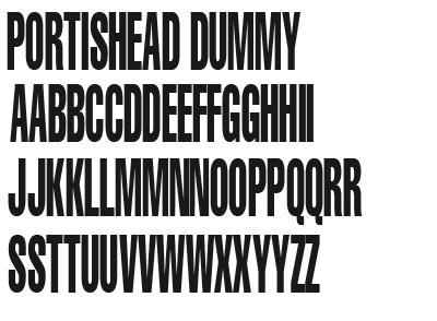 Download Portishead Dummy font