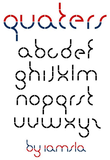 Download quarters font