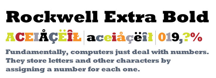 Download Rockwell Extra Bold font