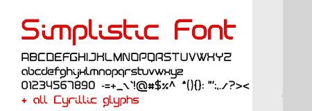 Download Simplistic font