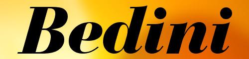 Bedini bold italic font