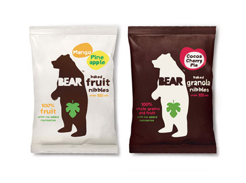 Bear Baked Nibbles Package Design